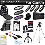 16GB Essentials Accessory Kit For For Canon EOS 60D, EOS 70D, Includes 16GB High Speed SD Memory card + USB 2.0 High Speed Card Reader + Extended Replacement LP-E6 (2200 mAH) Battery + Ac/Dc Rapid Travel Battery Charger + LR Backpack + 57'' Tripod + MorE