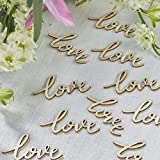 Ginger Ray Love Wooden Table Wedding Or Party Confetti - Boho