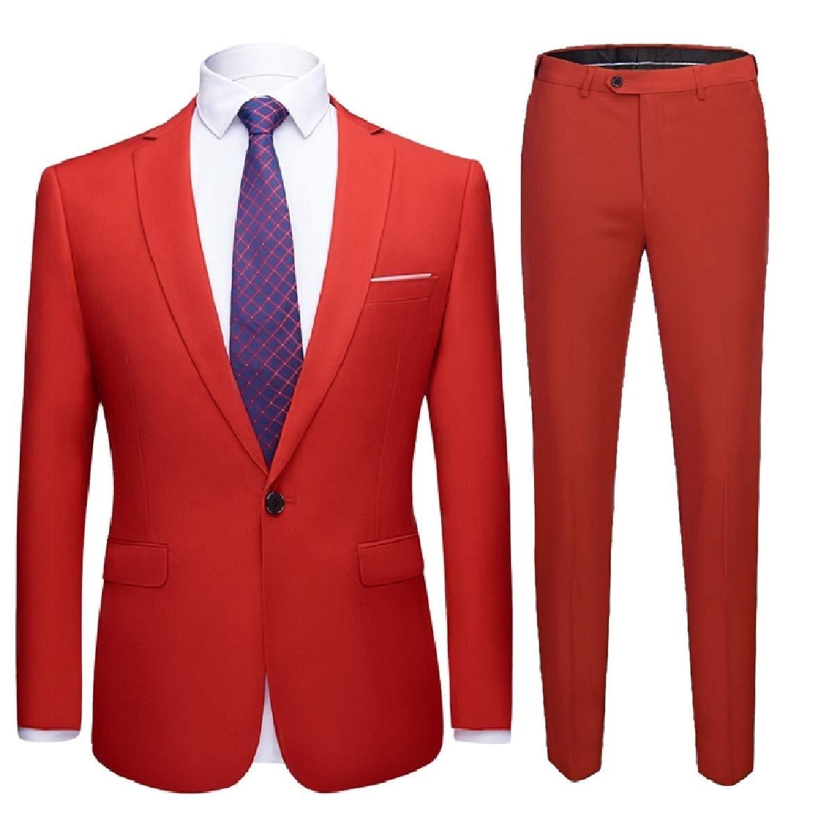 8913001d2529 Red Zimase Men Premium 2 Piece Set Business Business Business Plus Size Blazer  Jacket Suits 774f3e