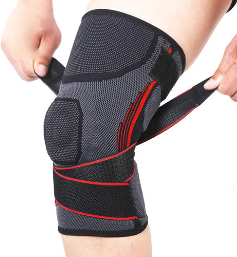 ACL Arthritis Meniscus Tears Knee Brace Support Women Men Sprains A Pair,M Adjustable Open Patella Stabilizer for Sports Trauma Ligament Injuries