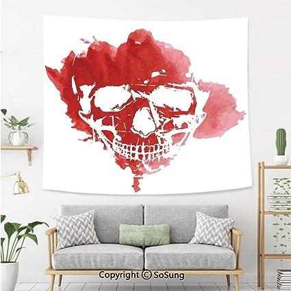 Amazon com: Horror House Decor Wall Tapestry,Skull Head in