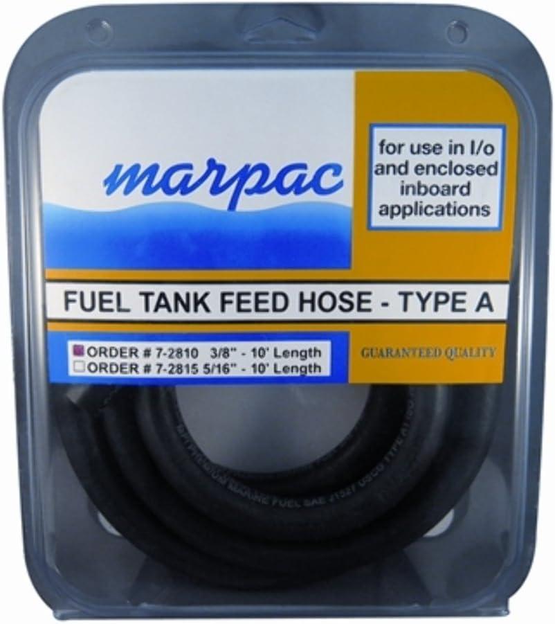 Marpac 350-0380-C10 Type A Fuel Hose 3//8x10 ISO 7840 SAE J1527 USCG MD