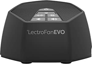 LectroFan Evo White Noise Sound Machine for Home and Office with 22 Unique Non-Looping Fan & White Noise Sounds & Sleep Timer