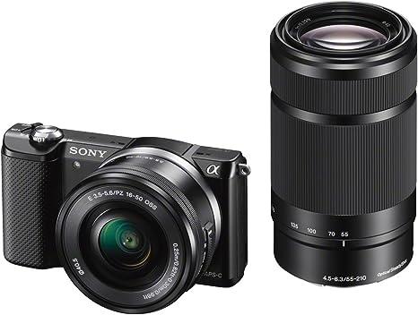 Sony ILCE-5000Y - Cámara Evil de 20.1 MP (Pantalla articulada 3 ...