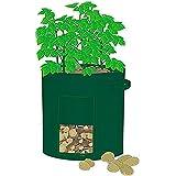 "Mr. Garden 6Pack 10 Gal Grow Bag, Potato Patio Planter Radish/Turnip Planter, Plant Tub with Access Flap for Harvesting, 14"" Diameter X 18"" Height"