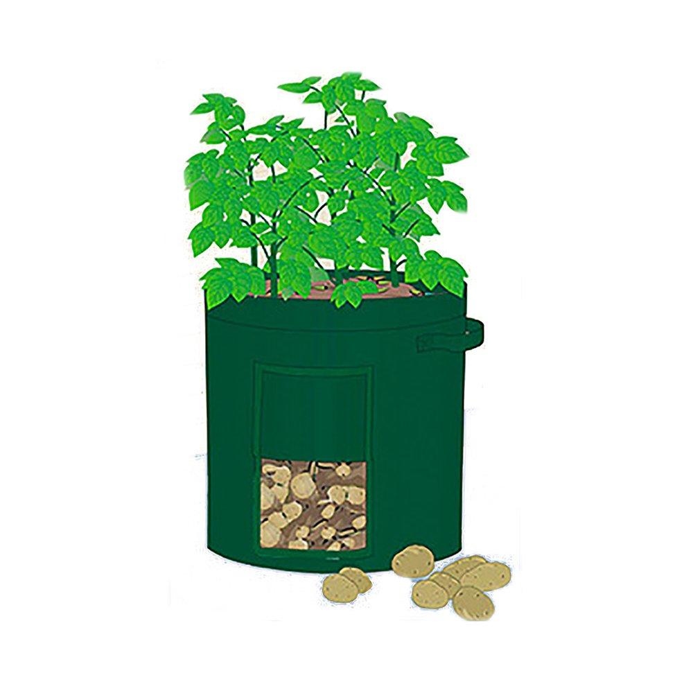 Mr. Garden 10 Gal Grow Bag, Potato Patio Planter Radish/Turnip Planter, Plant Tub with Access Flap for Harvesting, 14'' Diameter X 18'' Height