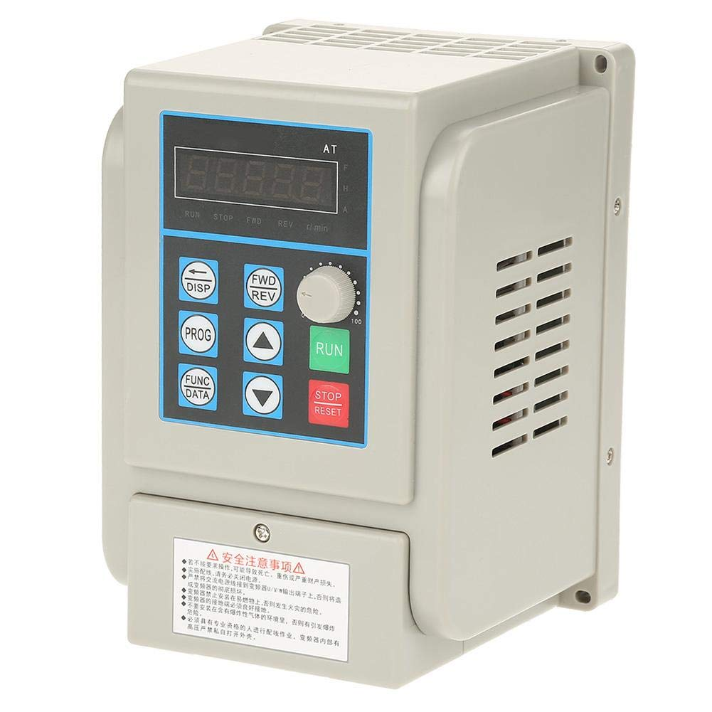 VFD 220V, Single-Phase Variable Frequency Drive,Low Noise Electromagnetic Interference,for 3-Phase 2.2KW AC Motor