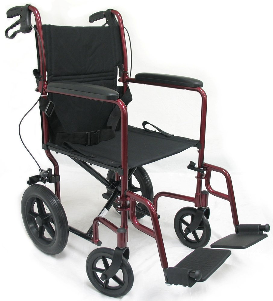 Karman 23 lbs Transport Wheelchair with Companion Brakes