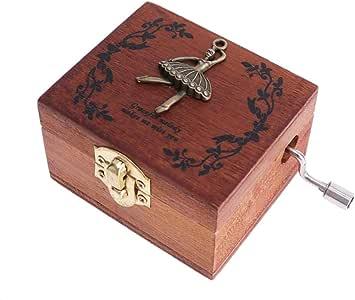 VOSAREA Navidad Caja de música de Madera Bailarinas Caja Musical Regalos Escritorio Ornamento para Fiesta: Amazon.es: Hogar