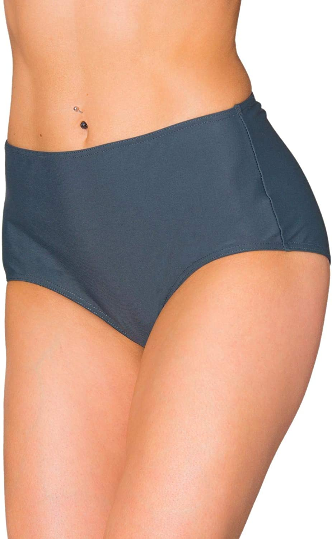 Aquarti Womens High Waist Bikini Bottom