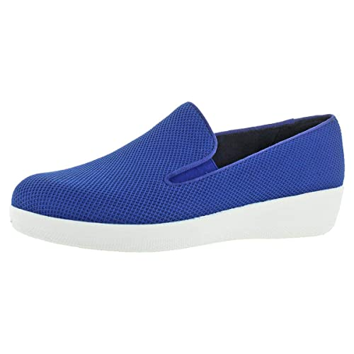 6d27a2c7bd588a FitFlop Women s Uberknit Textile Slip On Skate Shoes Loafers Navy Size 5