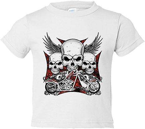 Camiseta niño para moteros cañeros - Blanco, 3-4 años: Amazon.es: Bebé