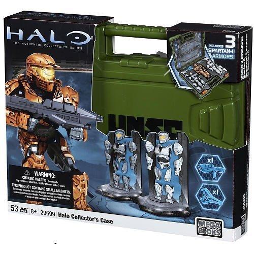 Mega Bloks Halo Spartan Armor Action Figure Collector's Case (Green -
