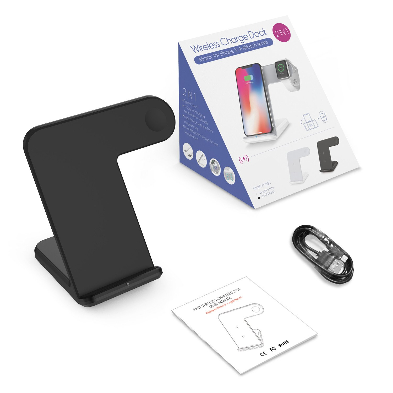 MMLC Qi Wireless Charger 2 en 1 Soporte Cargador Dock Cargador ...