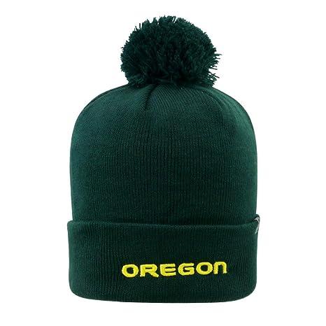 Amazon.com   Youth University of Oregon Ducks Beanie Knit Pom Beanie ... 2f67b92a179