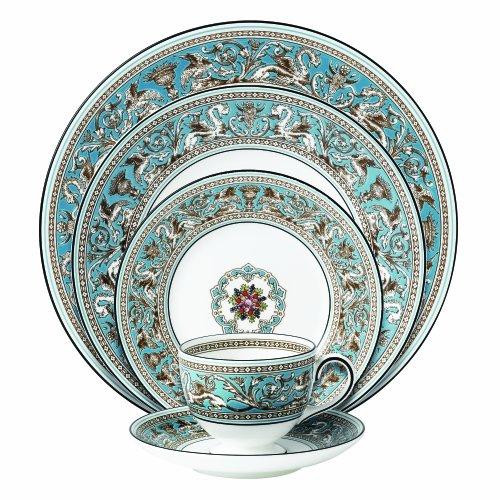 - Wedgwood Prestige Florentine Turquoise 5-Piece Place Setting
