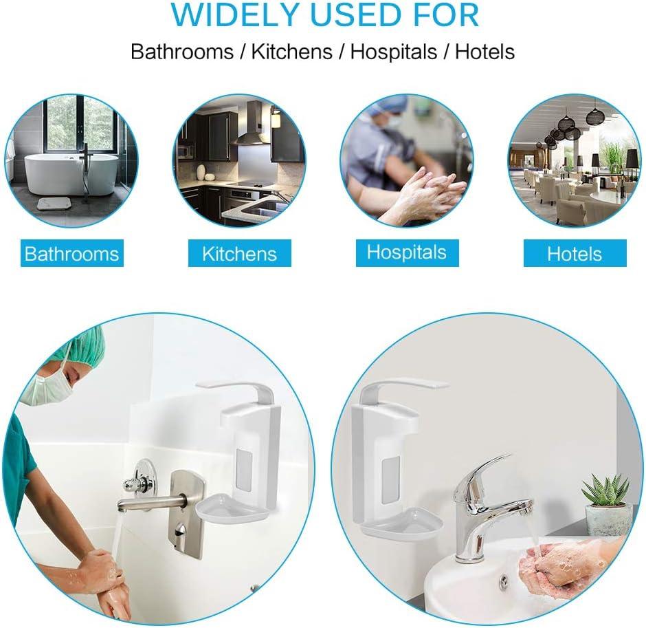 capacit/à Resistente E Trasparente da 500 Ml Adatto per La Pulizia Domestica Commerciale Alberghiera Dispenser di Sapone a Parete Manuale