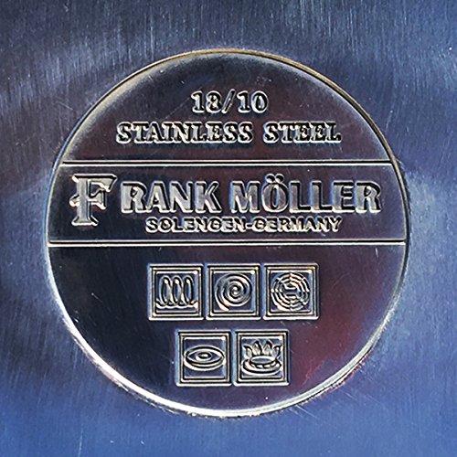 bwanaz Frank Moller 8 piezas 18/10 acero inoxidable batería de cocina Set de regalo: Amazon.es: Hogar