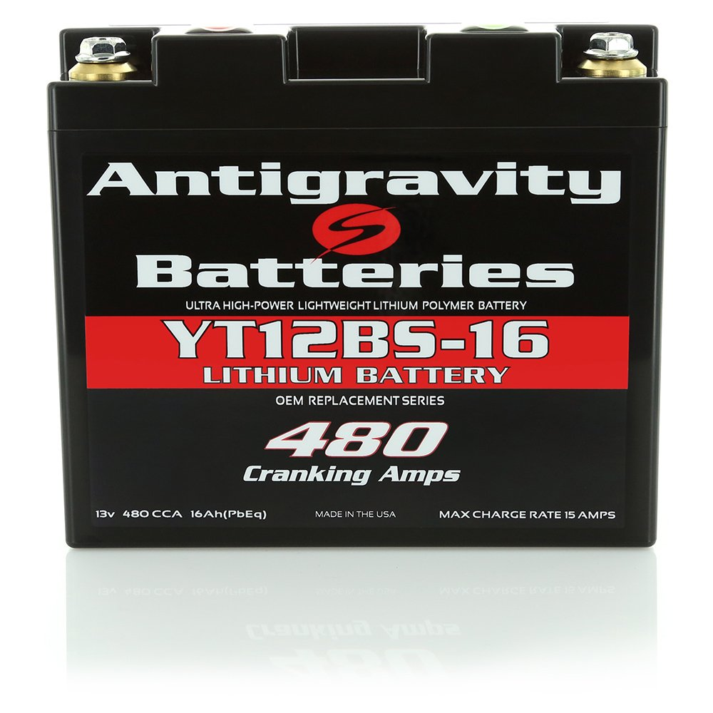 Antigravity Batteries YT12BS-16 High-Power Lithium Motorsports Battery, OEM Replacement Series by Antigravity Batteries