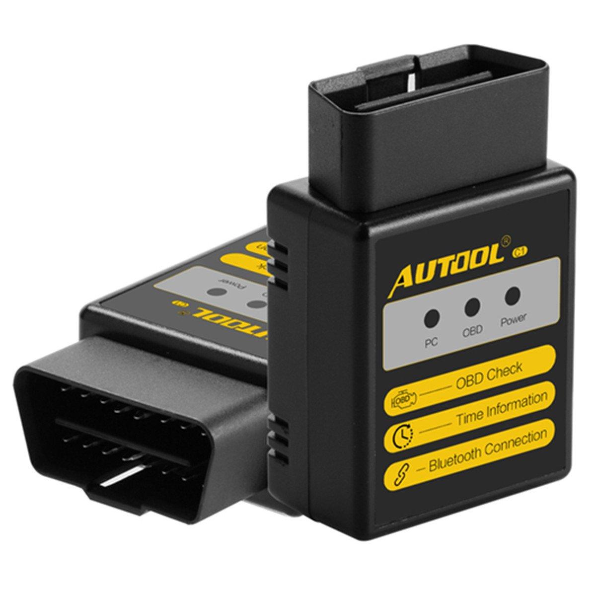lettore codici di guasto Bluetooth Autool C1 V1.5 OBD Scanner For ElM327 For Torque Android OBDII OBD 2 Strumento di diagnostica auto OBD-II Lettore codici diagnostici di guasto al motore