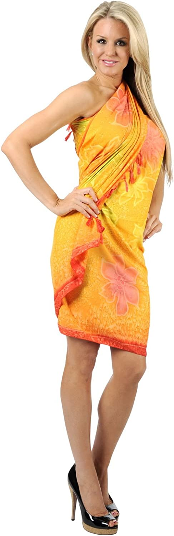 LA LEELA Womens Beach Cover Up Bikini Sarong Swimsuit Wrap Skirts Full Long