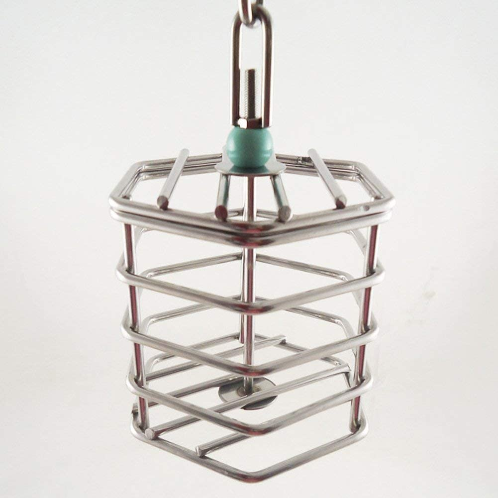Hypeety Parrot Foraging Feeder Unique Parrot Bird Cage Hanging Feeder Parrot Hanging Foraging Toys with Blocks