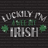Luckily I'm Irish St. Patrick's Day Iron On Rhinestone Transfer by JCS Rhinestones - Limited Edition!
