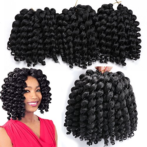 3 packs wand curl crochet hair synthetic crochet braids 8 inch