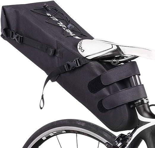 QWERDF Bolsa de sillín de Bicicleta Completamente Impermeable ...