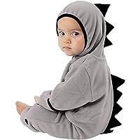 MRULIC Neugeborenes Baby Jumpsuit Outfit Dinosaurier Reißverschluss mit Kapuze Spielanzug Overall Outfit Kleidung Niedlicher Babyschlafsack Onesies Herbst und Wintermodelle
