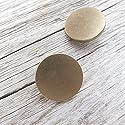 【フラット足付き】メタルシンプルボタン #C601 1穴 25mm C/#AP ライトアンティークゴールド 2個セット