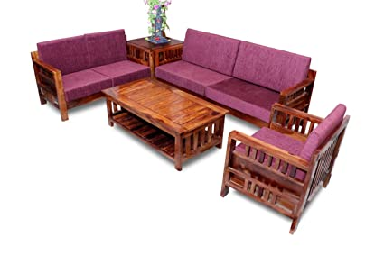 Awe Inspiring Mv Furniture Solid Sheesham Wood Wooden Sofa Set With Center Home Interior And Landscaping Oversignezvosmurscom