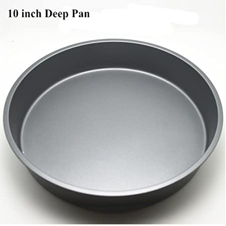 Carbon Steel Round Deep Dish Pizza Pan Non-stick Tray Baking Mould Kitchen Tool