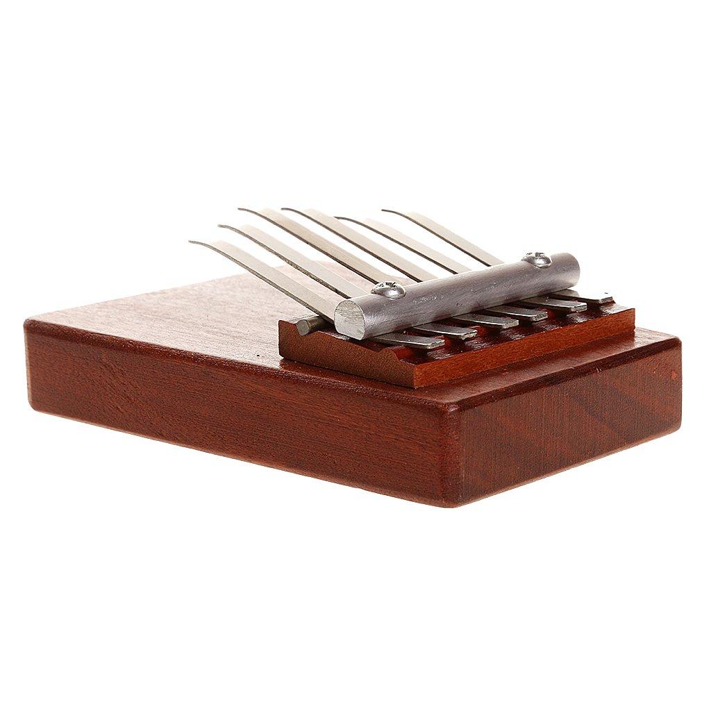 African Mbira Redwood 6 Key Kalimba Thumb Piano Musical Instrument Toy Gifts Generic STK0157011500