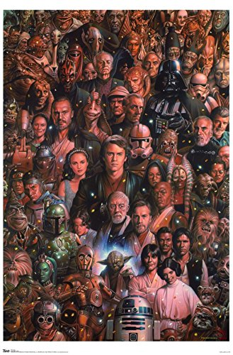 Trends International Star Wars Saga Wall Poster 22.375