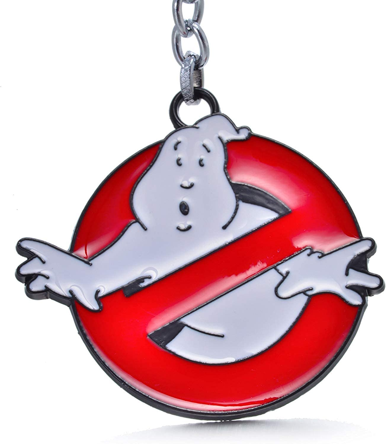 Anime Source Ghostbusters Pendant Logo Keychain Metal Ghost