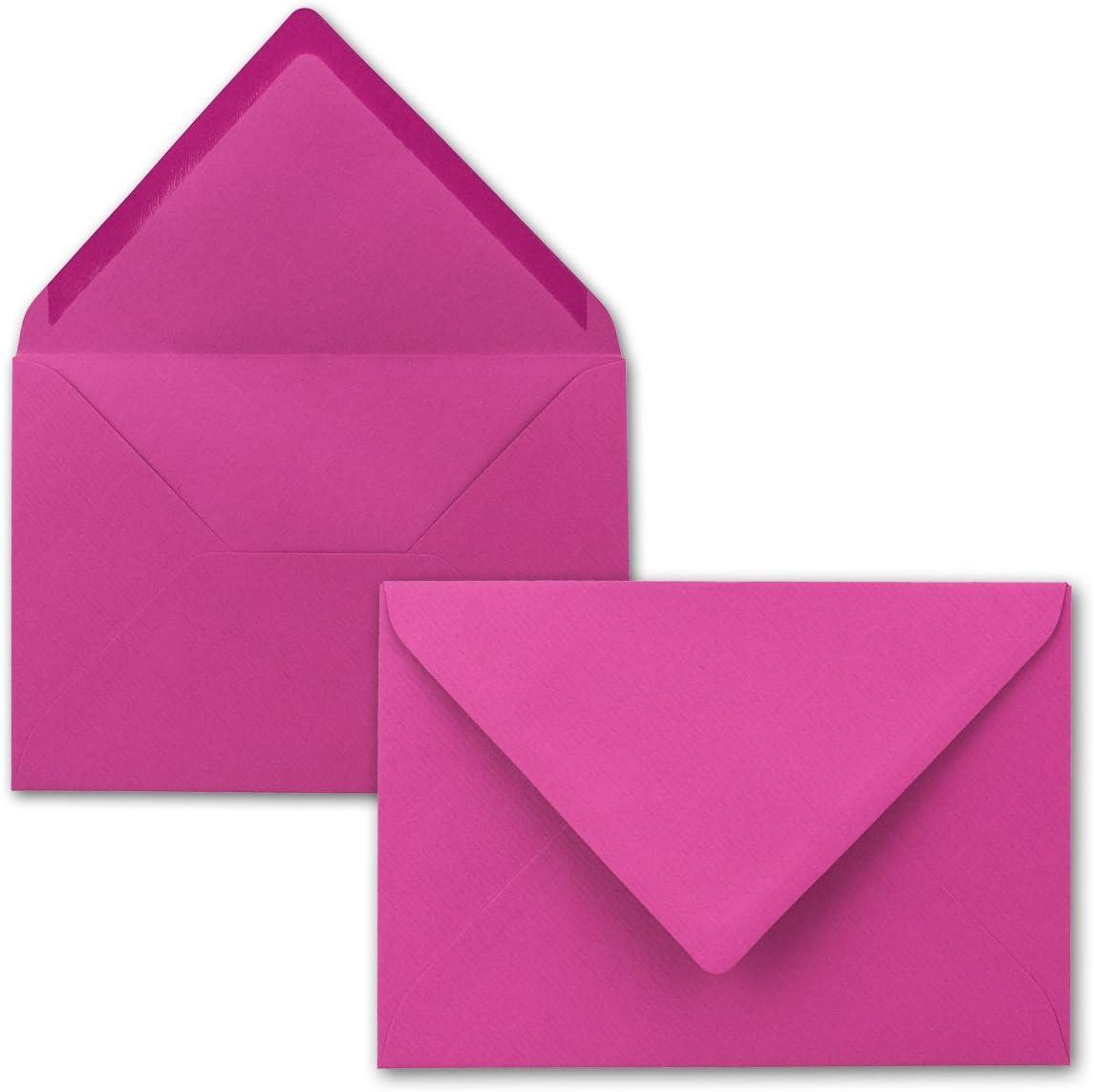 Amarena DIN C6-114 x 162 mm 100 Brief-Umschl/äge Serie FarbenFroh/® Kuverts mit Nassklebung ohne Fenster f/ür Gru/ß-Karten /& Einladungen