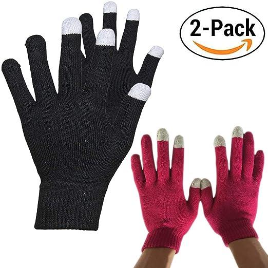 women men winter touchscreen gloves knit texting touch screen gloves