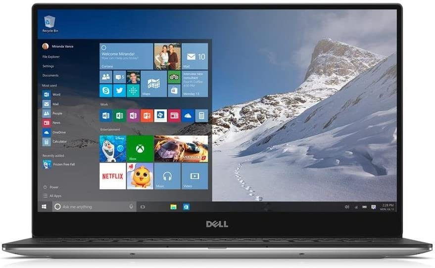 Dell XPS 9343 13.3in UltraSharp QHD+ Touchscreen 3200x1800 LED Anti-glare display Laptop, Intel Core i5 2.2GHz, 8GB RAM, 256GB Windows 10 Home (Renewed)