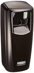 Rubbermaid Commercial Products 1793540 Standard Odor-Control Aerosol Dispenser with LCD Display, Black
