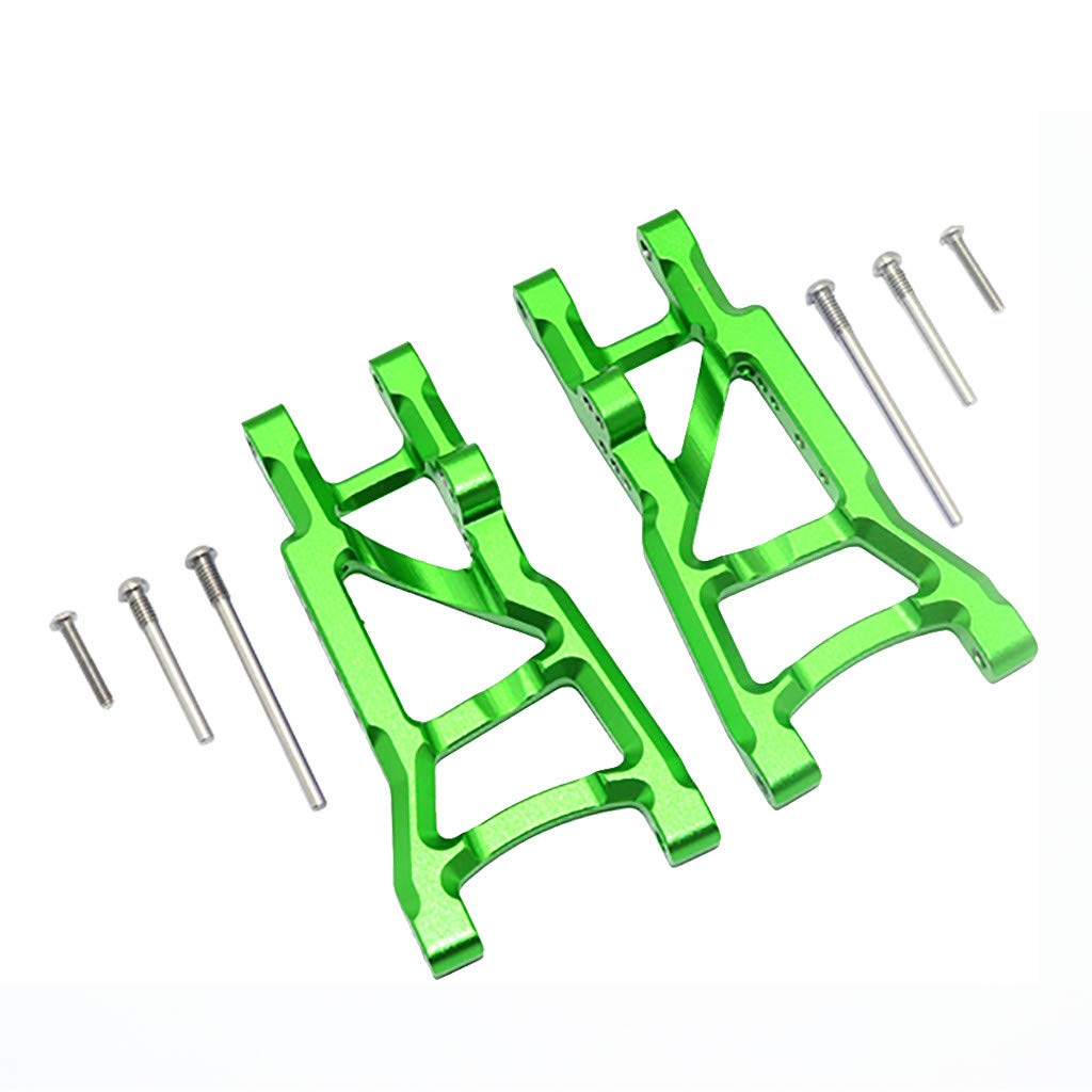 Binory Aluminum Rear Suspension A-Arms for Traxxas 1/10 Slash 2WD RC Car Upgrade Part(Green)