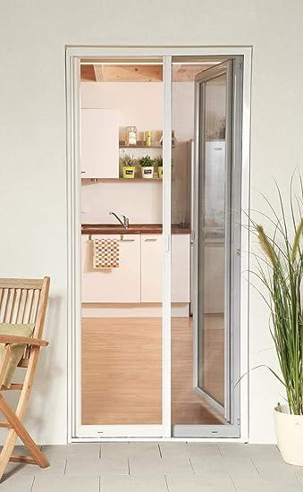 Mosquitera enrollable puerta Smart aluminio blanco 125 x 220 cm acortado a medida: Amazon.es: Bricolaje y herramientas