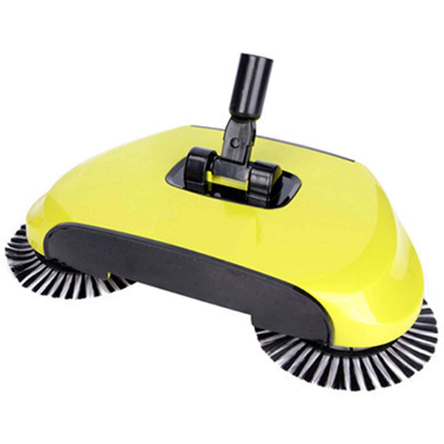 PAXLWSSY Lazy 3 in 1 Household Cleaning Hand Push Automatic Sweeper Broom Including Broom,Dustpan and Trash Bin Cleaner Without Electricity Environmental,Yellow