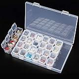 28 Ranuras Caja de almacenamiento Accesorios de bordado Diamante Cajas de pintura Joyas Perlas Vitrinas Organizador de almace
