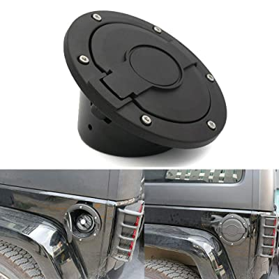Jeep Fuel Filler Door Cover,Athiry Black Gas Tank Cap Cover Accessories for 2007-2020 Jeep Wrangler JK & JKU Unlimited Sport Rubicon Sahara: Automotive
