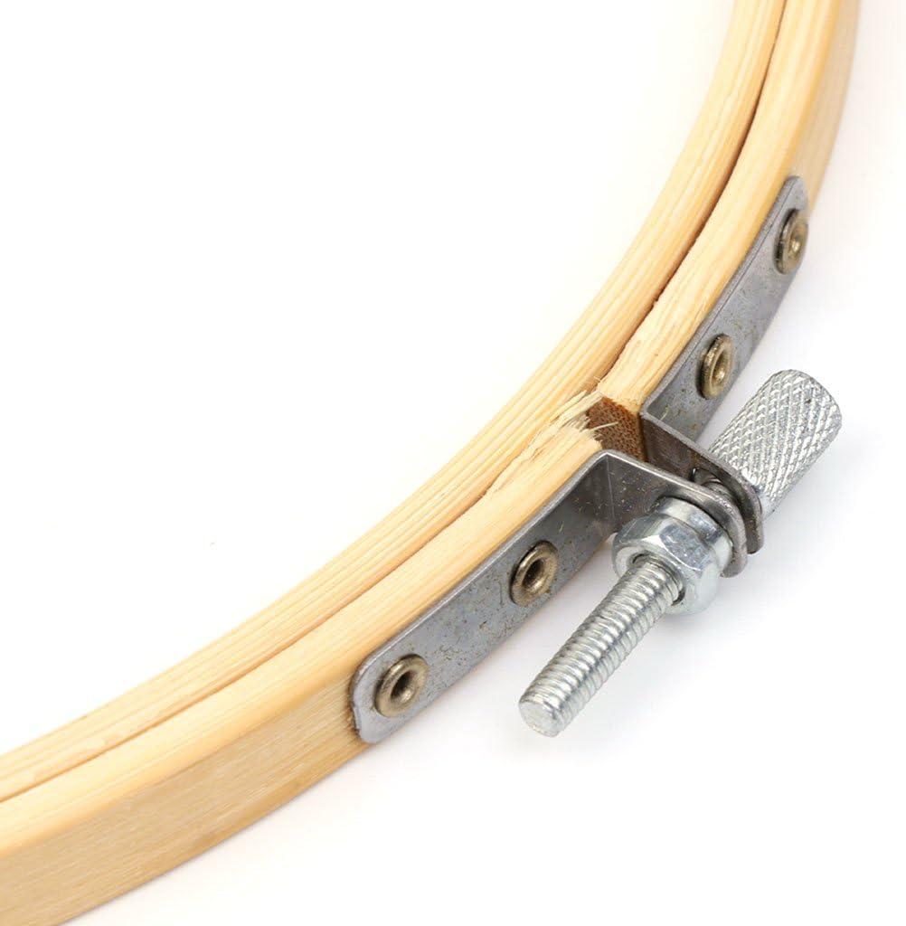 Haptian 13-34 cm Bambus Holz Kreuzstich Maschine Stickrahmen Ring N/ähen Handwerk DIY