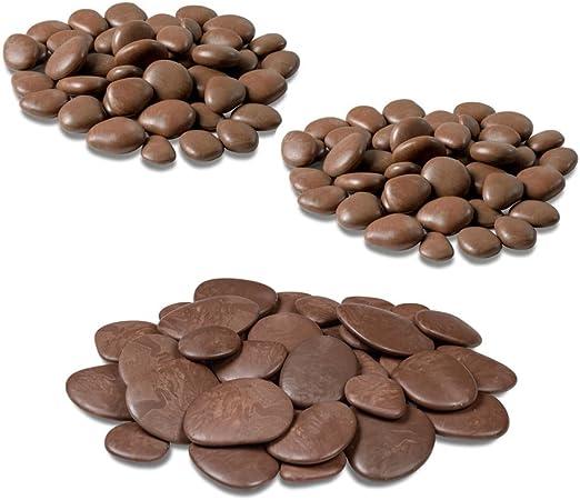 Teraplast - Piedras decorativas para jarrones, jardín y acuario en plástico reciclado - 3 paquetes, color marrón: Amazon.es: Jardín