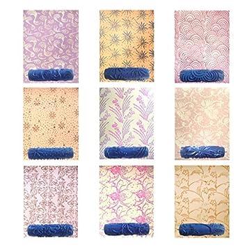 fhouses 7 zoll wand empaistic malerrolle farbrolle werkzeug diy fr wand dekoration blumen muster muster - Muster Fur Wand