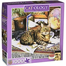 MasterPieces Cat-O-logy Gulliver Square Jigsaw Puzzle, Art by Geoffrey Tristram, 1000-Piece