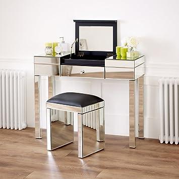 The Furniture Market Venezianischer Spiegel Fach Schminktisch Set